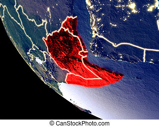 Horn of Africa from space on Earth