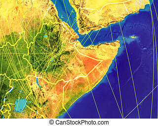 Horn of Africa on Earth