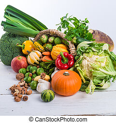 Horn with vegetables