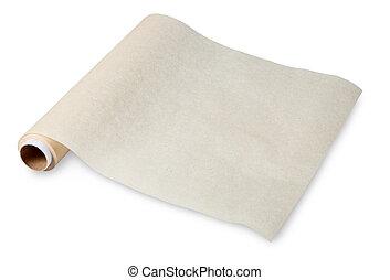 hornada, papel, pergamino, alimento, es, utilizado, para,...