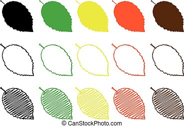 hornbeam leaf color set,