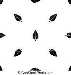 Hornbeam leaf pattern seamless black