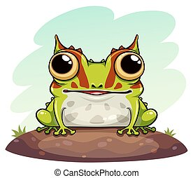 Horned frog cartoon