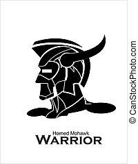 Horned Mohawk Warrior