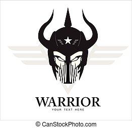 horned warrior head .Rider Head.