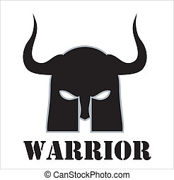 horned warrior - suitable for game icon, game developer, RPG...