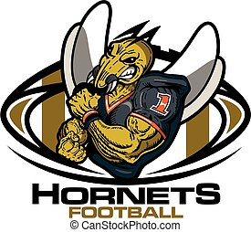 hornets football - muscular hornets football player team...