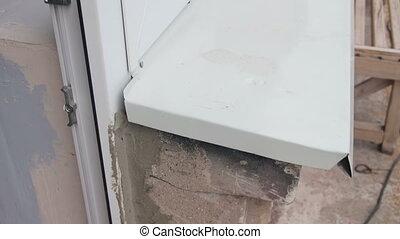Hornet's Nest in the Window Frame Euro Windows.
