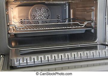 horno, eléctrico, abierto