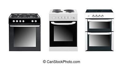 hornos, diferente, cocina