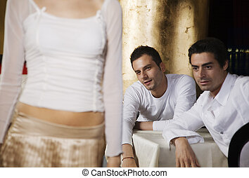 horny guys - girls night out: horny guys looking at a nice...