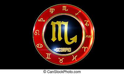 horoscoop, achtergrond, zodiac, kleurrijke