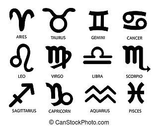 Horoscope Birth Zodiac Star signs vector illustration