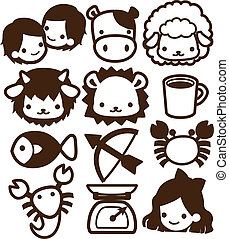 Horoscope Icon - Vector File EPS10