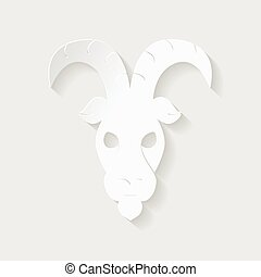 Horoscope paper cut style. Concept for Capricorn. Vector illustration