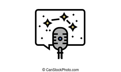 horoscope radio channel animated color icon. horoscope radio channel sign. isolated on white background