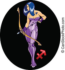 Horoscope. Sagittarius. - The illustration shows the...