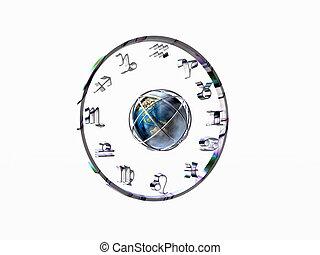 Horoscope, the zodiac. - Horoscope, the zodiac over white....