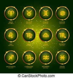 Horoscope. Zodiac Icons