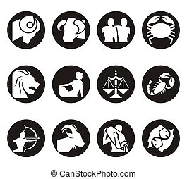 Horoscope Zodiac Illustration - Horoscope symbols in 2D ...