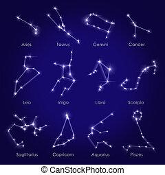 Horoscopes background white