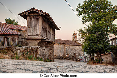 Horreo, typical spanish granary - View of the Horreo,...