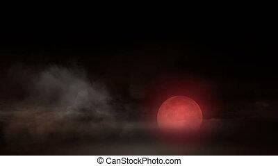 horreur, 4k, lune
