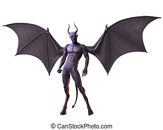 horreur, diable, -, figure