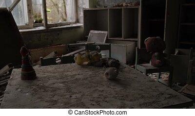 horreur, terrible, zone, ville, aimer, abandonnés, vidéo, ...
