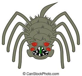 horrible, effrayant, araignés, grand