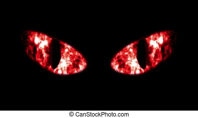 """Horrible Flashing Black Cat Eyeballs"" - ""A monster looking..."