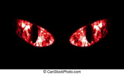 """horrible, fonkelend, black , eyeballs"", kat"