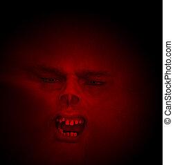 Horrible Halloween Face With Bad Teeth