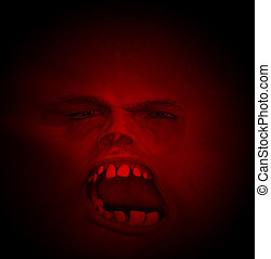 Horrible Halloween Face With Bad Teeth - A horrible face for...