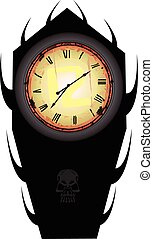 Horror Clock - Vector design of an horror clock, eps 100% ...