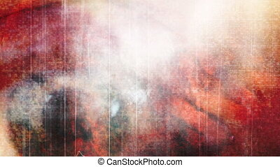 Horror eye and woman abstract - Mixed media horror eye and...