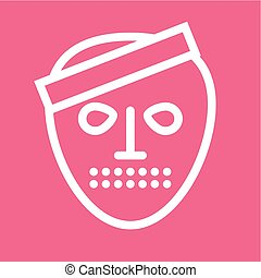 Horror, fear, ghost icon vector image.Can also be used for...