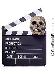 horror film movie clapper board cutout