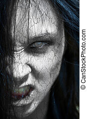 Horror - Girl possessed by the devil looks at you out of ...