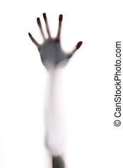 horror hand - hand silhouette