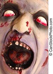 Bloody deformed head. Great for Halloween brochures and advertisements