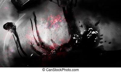 Horror knife blood terror female - Scary horror knife blood...