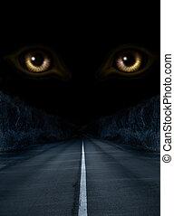 horror, noche