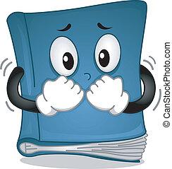 Horror Novel - Mascot Illustration Featuring a Book...