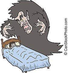 Horror sleep - Creative design of Horror sleep