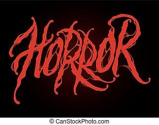 Horror text illustration