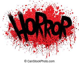 horror, texto