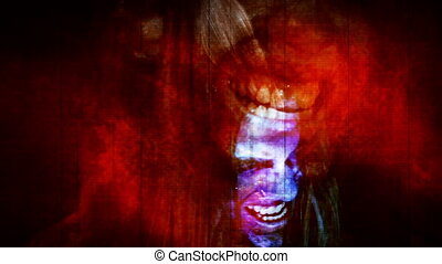 Horror Zombie Undead in Red fast paced scary combination of multiple shots and CG elements