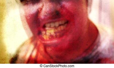 Horror Zombie with Black hole eyes