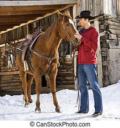 horse., 人